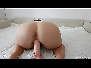 Big white booty play her pussy big dildo on fatchoo period com video