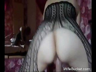 Milf wife loves riding hubby while he has the camera