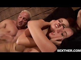 Penny Flame and dani woodward giving blowjob and banging