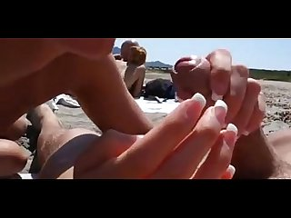 Blowjob at the public beach on www period hookup365 period click