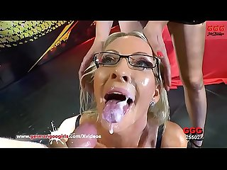 German Goo Girls - Gorgeous MILF Emma Starr Bukkake Gangbang