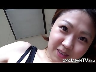 Cock riding japanese babe filmed in homemade pov