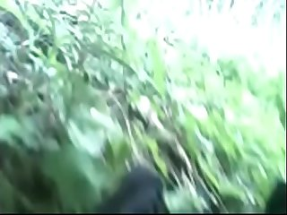 Nice boobs girl fucked in jungle