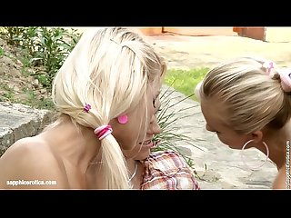 Outdoor orgy by sapphic erotica lesbian sex with bellina anneli eileen