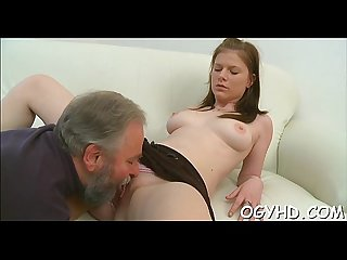 Old lad seduces a young hottie