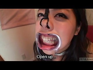 Subtitled bizarre Japanese facial destruction blowjob
