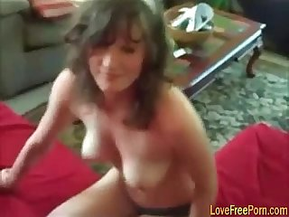 Brunette hot wife gets fucked hard with her ex husband