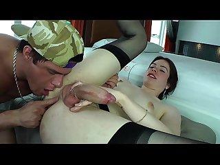 Showering ladyboy tranny sucking cock