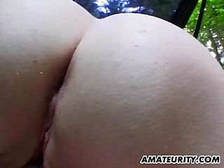 Amateur blonde girlfriend home action with facial
