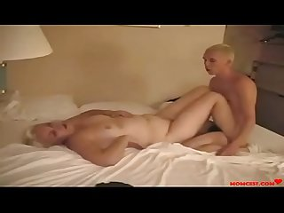 Mom fucks not son in a hotel room