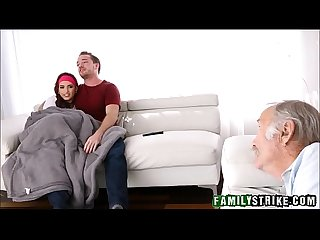 Stepsister fucked in front of grandpa