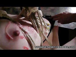 Seance bondage hogtied shibari Soumise sandy