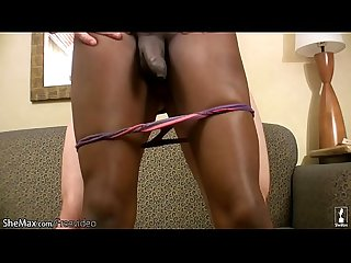 Glamorous black shedoll gets deep anal banged in interracial