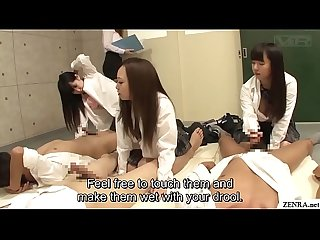 Japanese schoolgirls handjob and blowjob class Subtitles