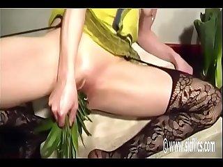 Bellas giant pineapple fuck