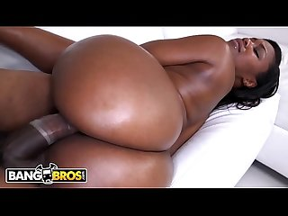 BANGBROS - Thick Chocolate Booty Pornstar Nina Rotti Rides A Dick