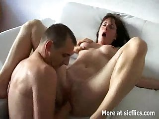 Hot brunette babe loves fisting penetrations
