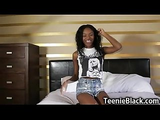 Cute Teenage Ebony First Porn!