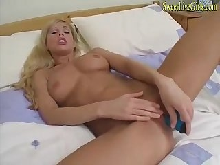 Amateur hot busty blonde housewife plays with her dildo 2 mp4