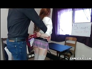Redhead Student In Miniskirt Fucks Her Teacher (Roleplay)