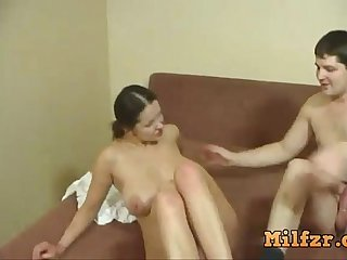 Very sexy mom and son had sex