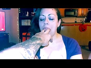 Brunette gives B.F.multiple male orgasms. One in the mouth and one out.