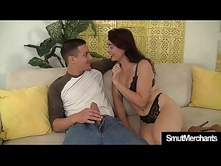 Mature woman fucks young guy