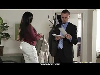 Submissive office busty assistant finally fucks her boss 12