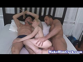 Cuckolding gf humiliates cheating bf