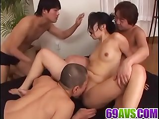 Intense group sex at work along kinky Chris ozawa