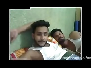 Indian boys having fun on cam