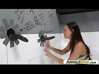 Aidra Fox Takes Two Jungle Cocks Via Gloryhole