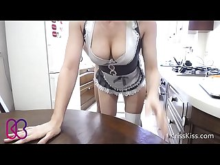 Young maid fucking tits and deepthroat