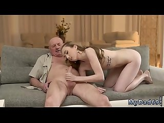 Young brunette licks old Russian Language Power