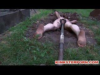 Bdsm outdoor humiliation dig slave dig