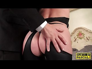 Submissive redhead slut squirting