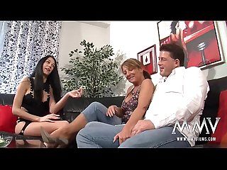 MMV FILMS Amateur Mature Threesome with his BF wife