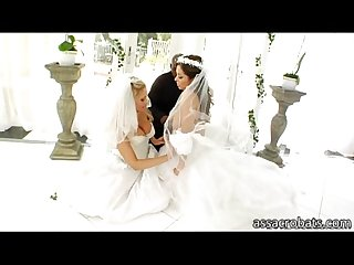 Delicious brides francesca le and Julia ann ass screwed by jumbo black cock