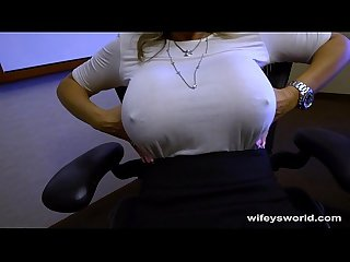 Wifey caught in the act swallows cum