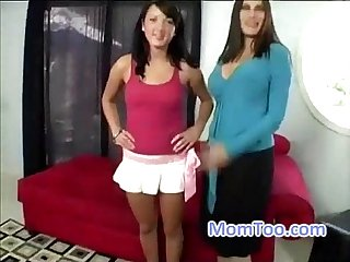 Hot mom and slutty daughter go to a porn casting together