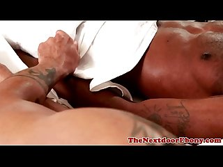 Gayblack jock tugged and fucks ass