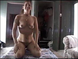 Amateur brunette wife threesome