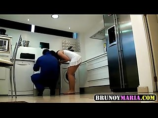 Spanish milf fucks the plumber