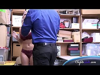 Blonde theif never gets tired of fucking jailer