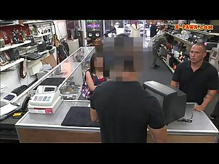 Sexy Latina hardcore sex with a dude in the pawnshop
