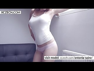Czech erotic superstar Antonia Sainz perform wild masturbation