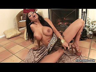 Brunette with big boobs toy fucks her wet cunt