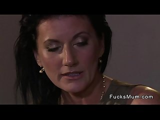 Beautiful mature lady fucking in hotel room with her lover