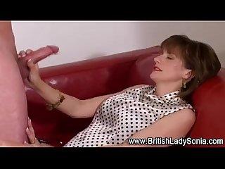 Mature stocking blowjob cumshot