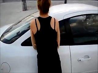 Hot wife fucked in public
